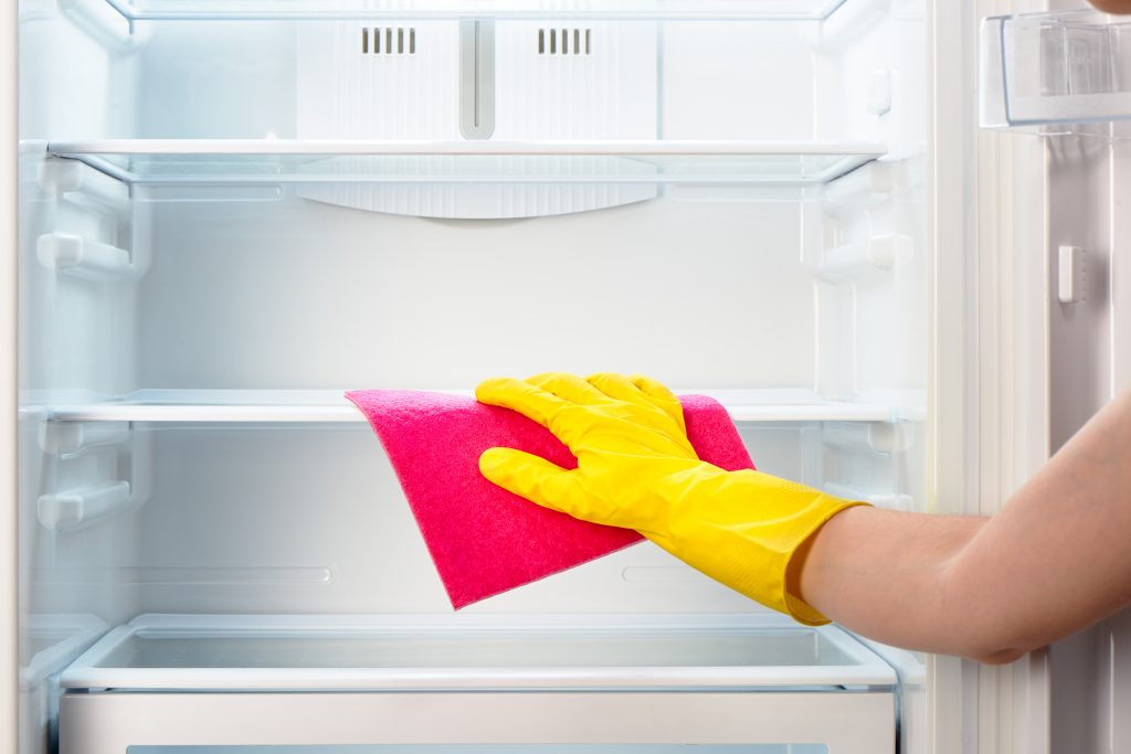 Cleaning a fridge