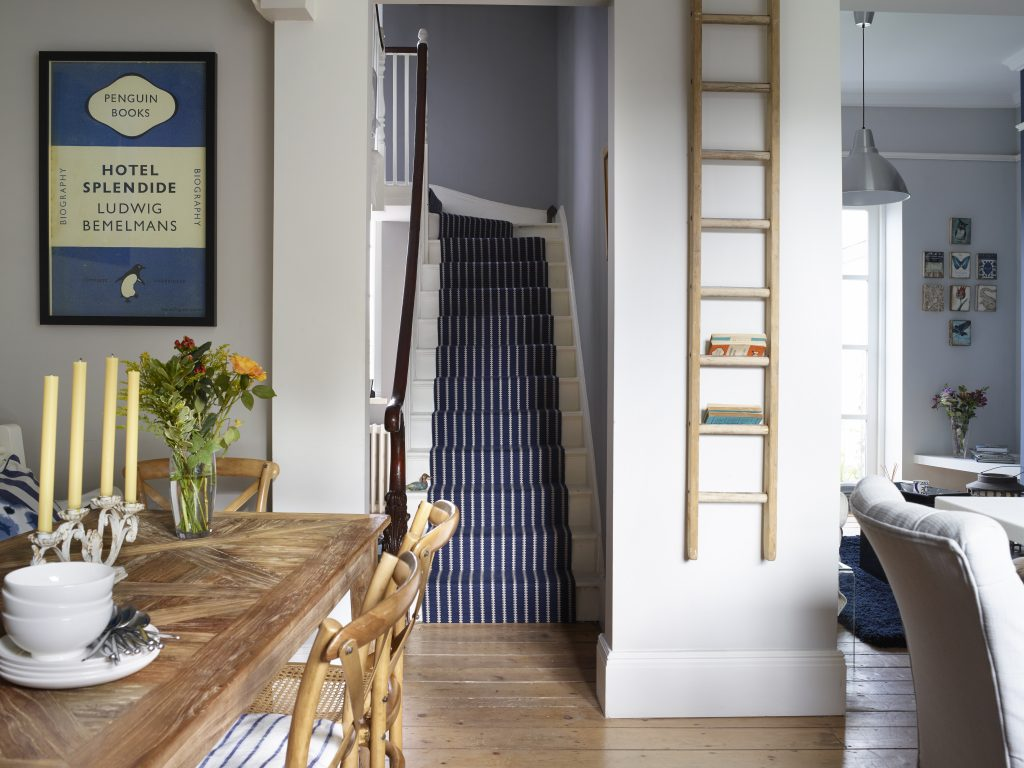 Ladder storage in a Wren kitchen